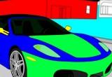 Lösung Sport Auto Ausmalen