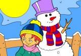Lösung Ein Winter Tag Ausmalen
