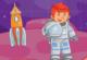 Astronaut im Labyrinth